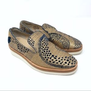 "Free People ""Snake Eyes"" loafer shoe glitter NEW"